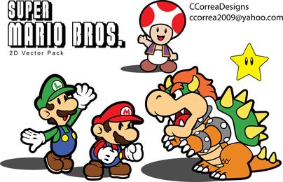 Super Mario Vector eingestellt