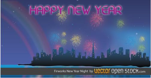 Fireworks New Year Night