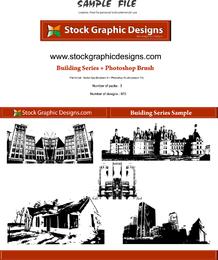 Conjunto de diseño de edificios