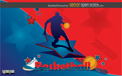 Basketball-Postkarte Design