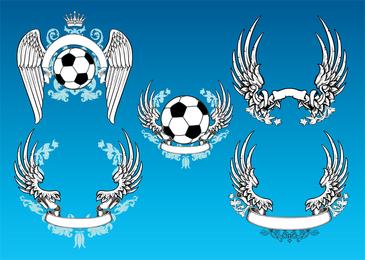 Gráficos de vetor de futebol vintage