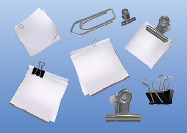Conjunto de elementos de escritorio