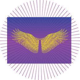 Vetor de asas do céu