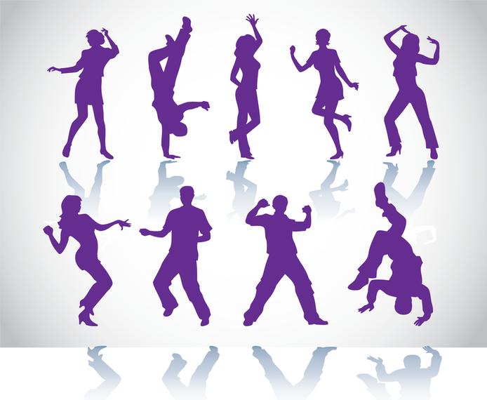 Bailarines vectores