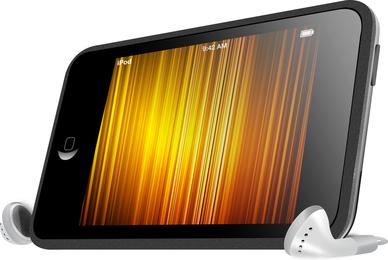 Vetor de toque do ipod