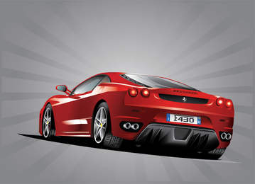 3D Ferrari car design