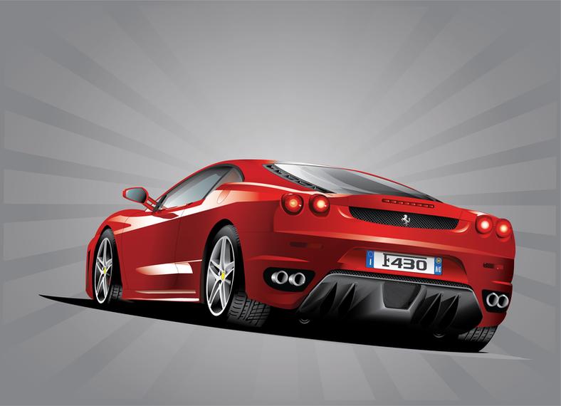 3D Ferrari car design