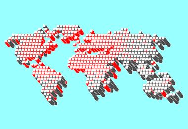 Vetor de mapa do mundo livre