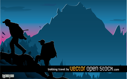 Trekking Vector