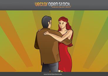 Pareja de tango bailando
