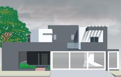 Ilustração moderna casa