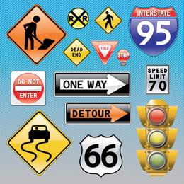 Verkehrszeichen-Icon-Set
