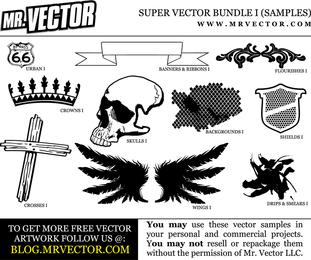 Muestras del paquete del vector del Grunge