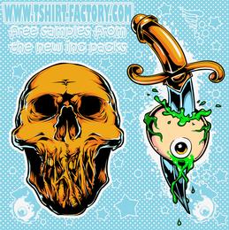 Amostra de tatuagem de esqueletos