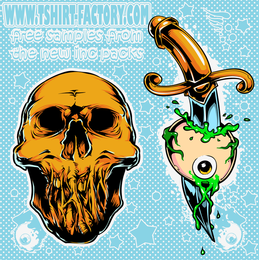 Skeletons Tattoo Sample