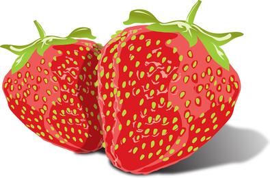 Tasty realistic strawberries