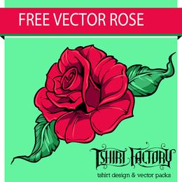 Rosa ilustracion con trazo