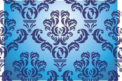 Vector de damasco antiguo