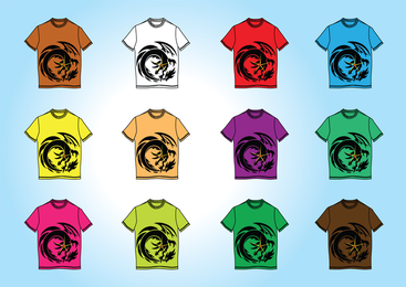 Kostenlose T-Shirt Vorlagen Vektoren