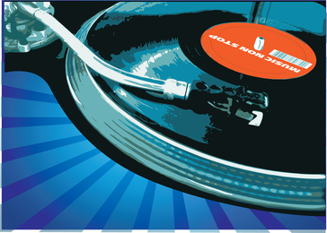 Music Record Player de vetor