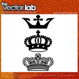 Illustrated crown set