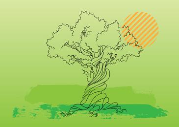 Ilustração vetorial de árvore