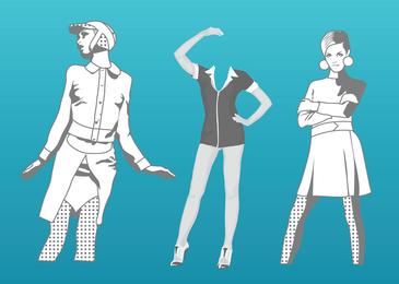 Ilustração vetorial moda
