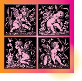 Vectores de Cupido Vintage