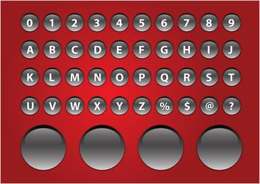 Alfabeto Brillante Botones
