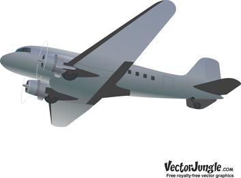 Retro-Stil Vektor Jet