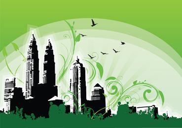 Ilustração das torres gêmeas de Petronas