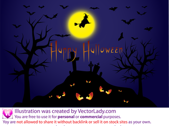 Ilustração de Halloween