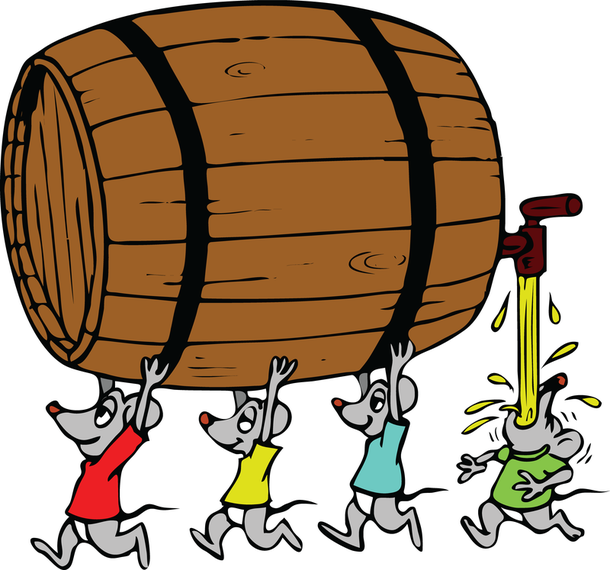 Mice Carrying Barrel