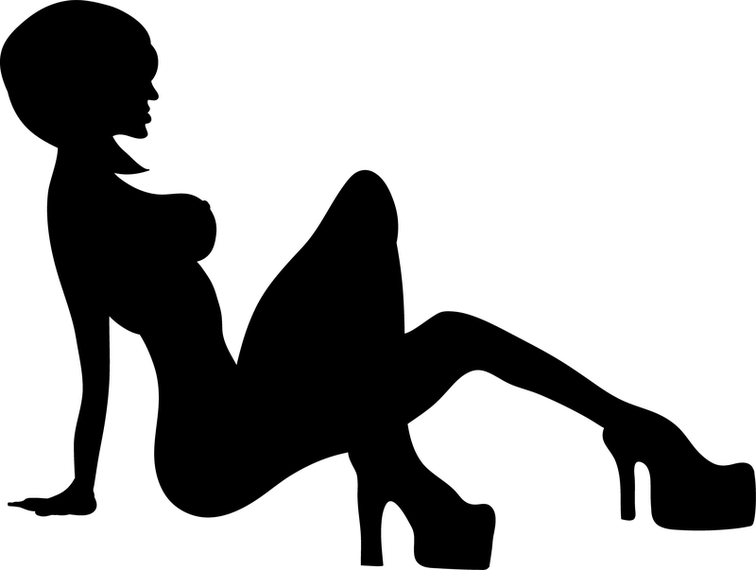 Black And White Sexy Women Logo Design