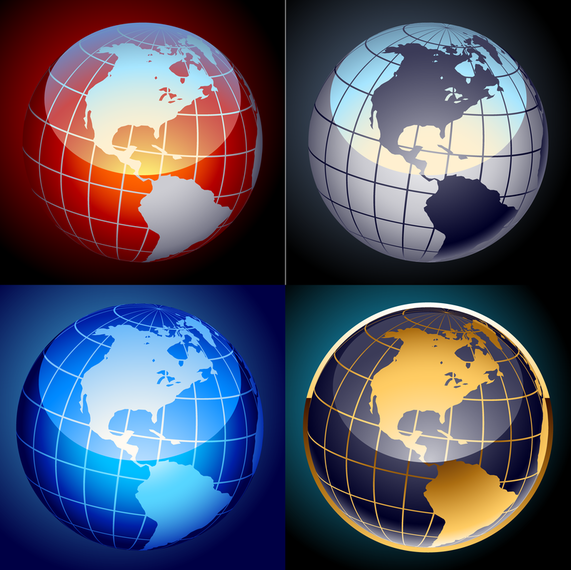 Set Of Globe Vectors