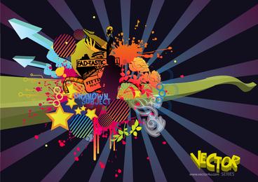 Grungy Vector Arts Design