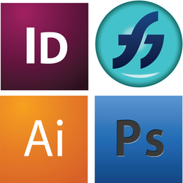 4 Design Software and formats logos