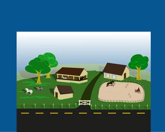 Fazenda de estrada lateral