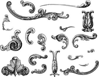 Free Vectors Engraved Ornaments