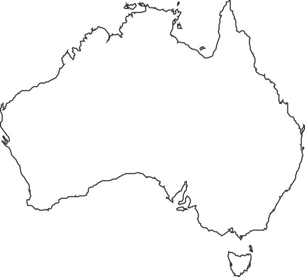 Australia Mapa Descargar Vector