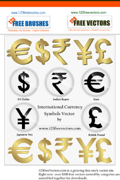 International Currency Symbols Vector Png rupias indias