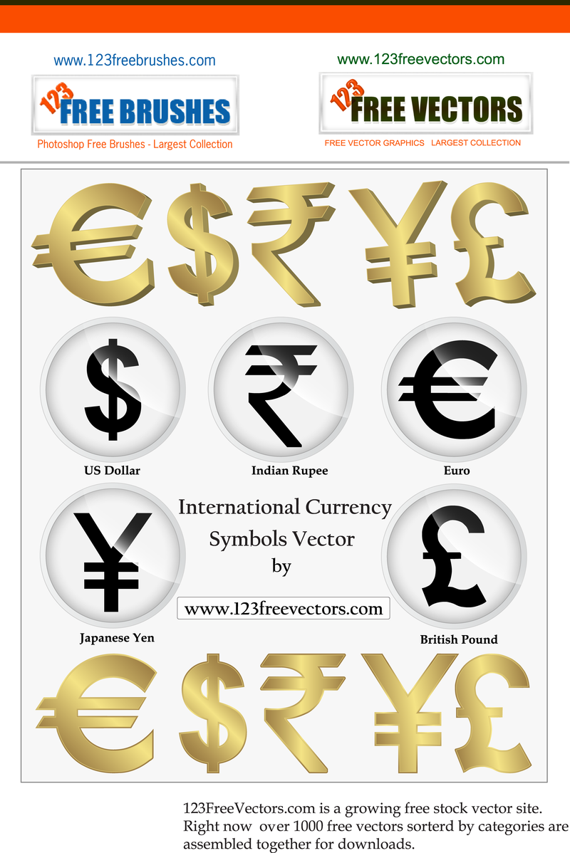 International currency symbols vector png indian rupees vector image user buycottarizona Image collections