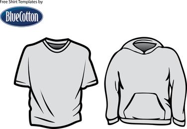 Blue Cotton T Shirt Templates