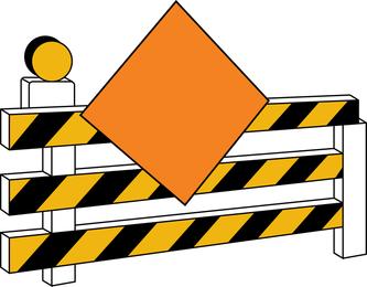 Under Construction Sign Board Vector