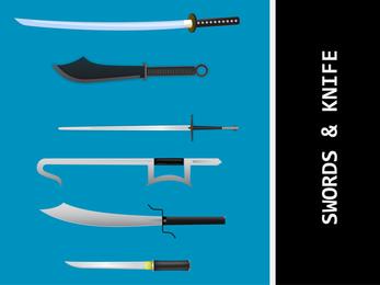 Facas e espadas vetores Vector japonesa Espada Samurai Vector Vector Ai Kungfu Espada Ai Kill Bill Samurai