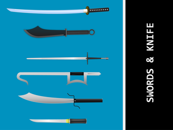 Knives And Swords Vectors Japanese Sword Vector Samurai Vector Ai Kungfu Sword Ai Kill Bill Samurai Vector
