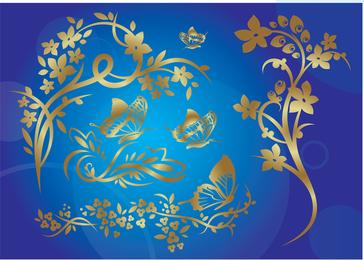 Gold Nature Vector Eps Illustrator Design