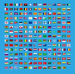 Vector conjunto de bandeiras do mundo