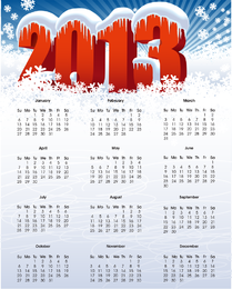 Vektorkalender für 2013