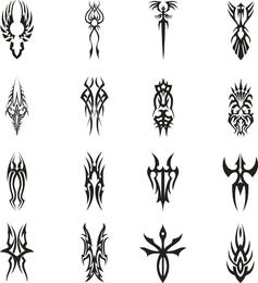 Tatuaje vector set 2